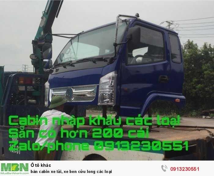 bán cabin xe tải, xe ben cửu long các loại