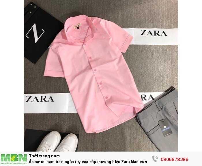 Áo sơ mi nam trơn ngắn tay cao cấp thương hiệu Zara Man có size lớn trên 80kg2