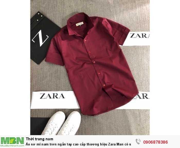 Áo sơ mi nam trơn ngắn tay cao cấp thương hiệu Zara Man có size lớn trên 80kg3