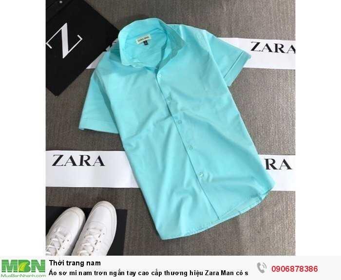 Áo sơ mi nam trơn ngắn tay cao cấp thương hiệu Zara Man có size lớn trên 80kg4