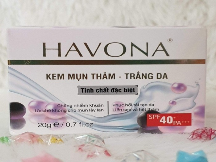 Kem Ngừa Mụn Thâm Trắng Da Havona Ngọc Trai New3