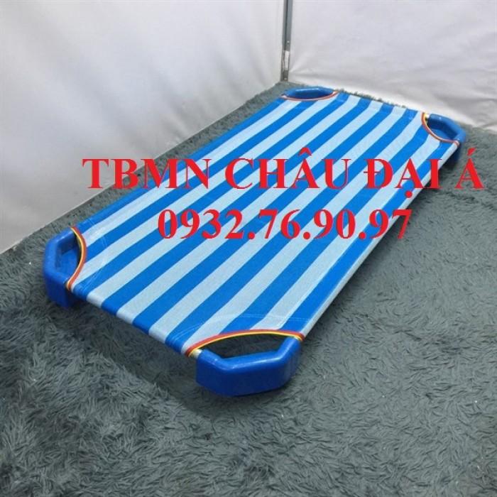 Cung cấp sỉ lẻ giường lưới sọc xanh trắng2