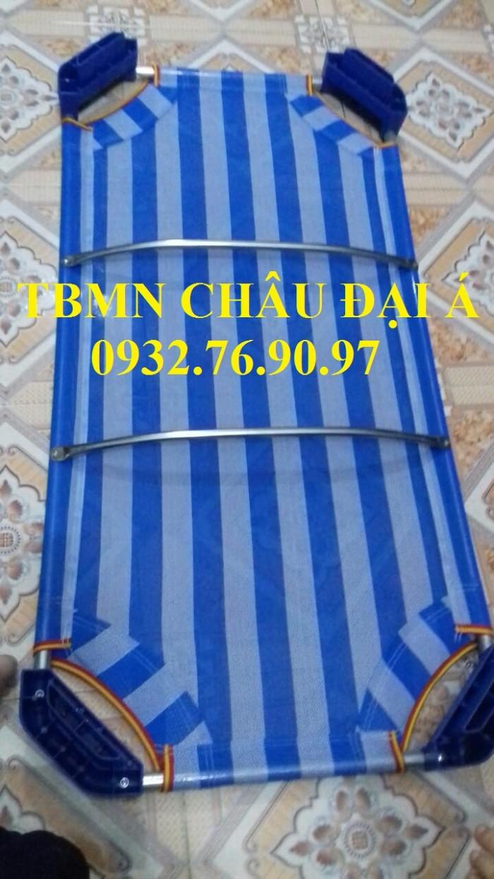 Cung cấp sỉ lẻ giường lưới sọc xanh trắng0