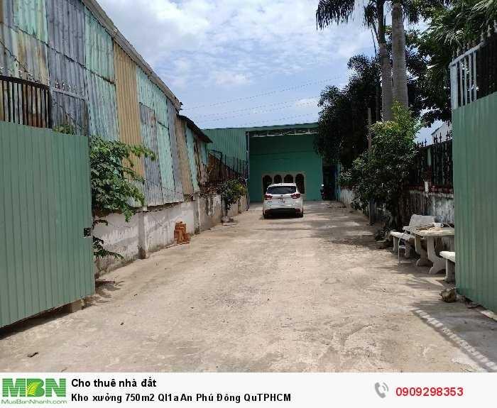 Kho xưởng 750m2 Ql1a An Phú Đông QuTPHCM