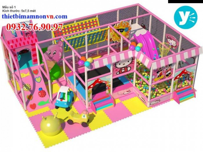 Chuyên thi công thiết kế khu vui chơi liên hoàn cho trẻ em3