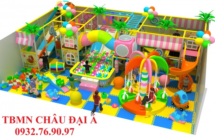 Chuyên thi công thiết kế khu vui chơi liên hoàn cho trẻ em0