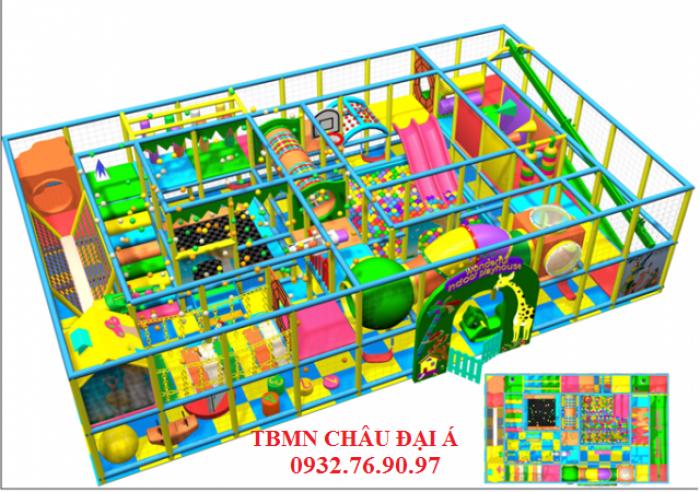 Chuyên thi công thiết kế khu vui chơi liên hoàn cho trẻ em4