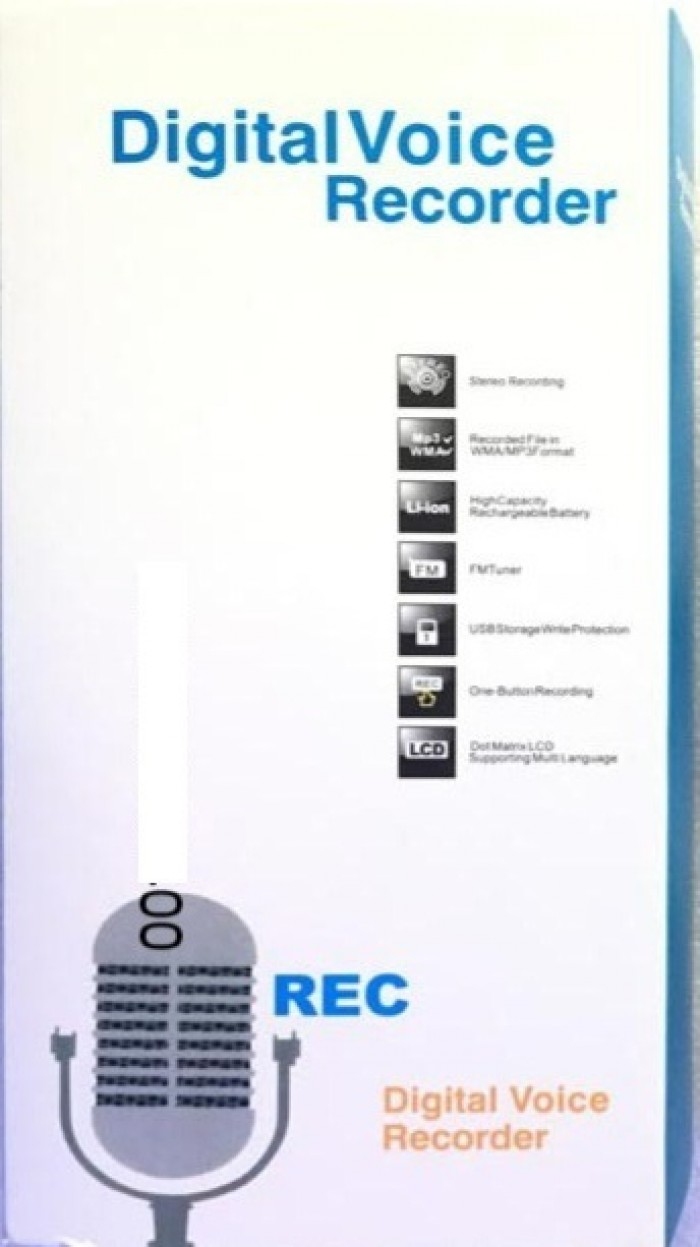 Máy ghi âm Digital Voice Recorder ( gọi tắt là DVR  ) Dung lượng bộ nhớ trong 8GB1