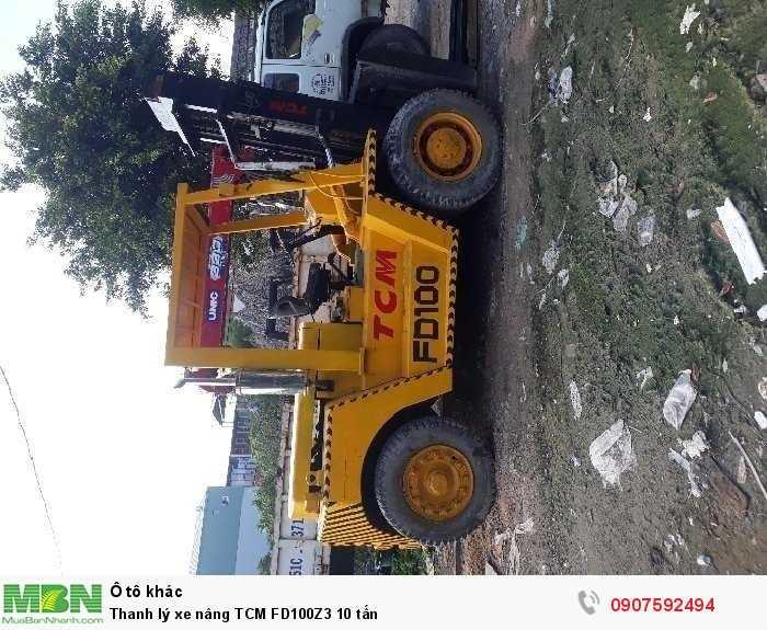Thanh lý xe nâng TCM FD100Z3 10 tấn