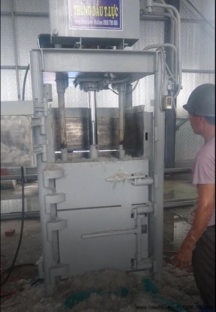 Máy ép rác, ép kiện phế liệu kiểu đứng, Hitech-1T68HP0