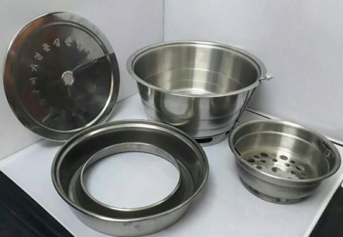 Bếp nướng âm bàn không khói hàn quốc hút dương có lắp đậy cho quán nướng lẩu1