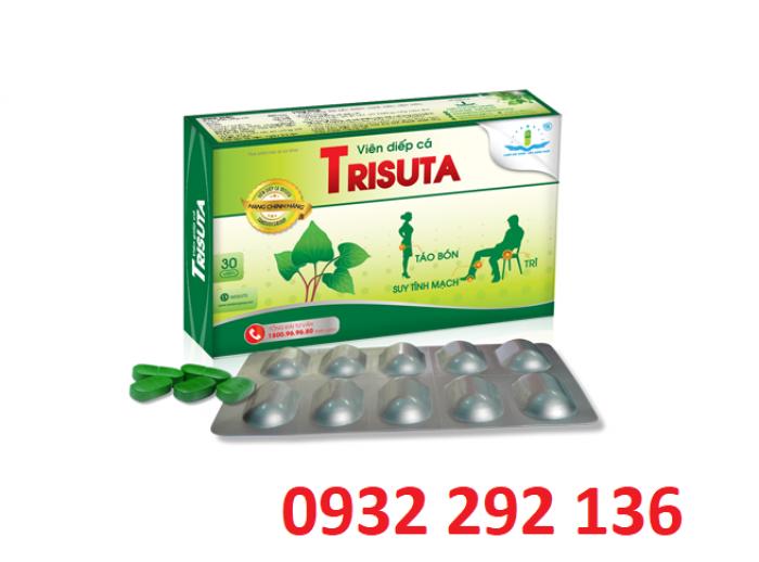 Viên Diếp cá Trisuta giúp bền thành mạch, hỗ trợ điều trị suy giãn tĩnh mạch, hỗ trợ điều trị bệnh trĩ. Điện thoại tư vấn và giao hàng: 0932292 1360