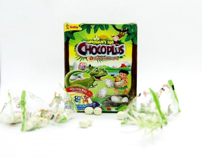 Đậu phộng Chocoplus Trứng Khủng Long Tân Tân hộp 38g5