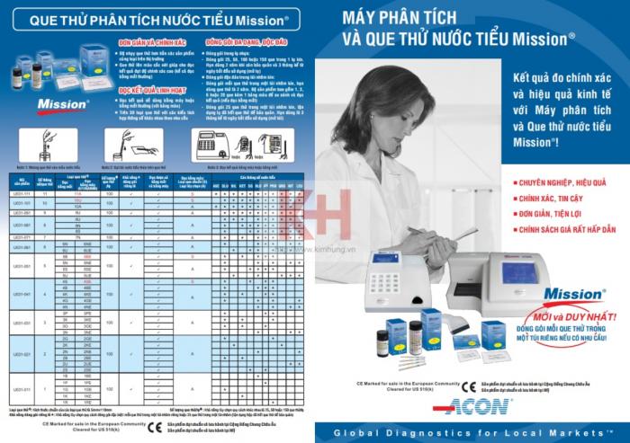 Que thử nước tiểu URS 10 hoặc 11 thông số Mission (Abon/Ccon - USA)0