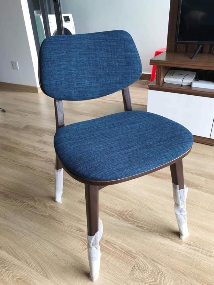 Thanh lý ghế gỗ cafe bọc nệm1
