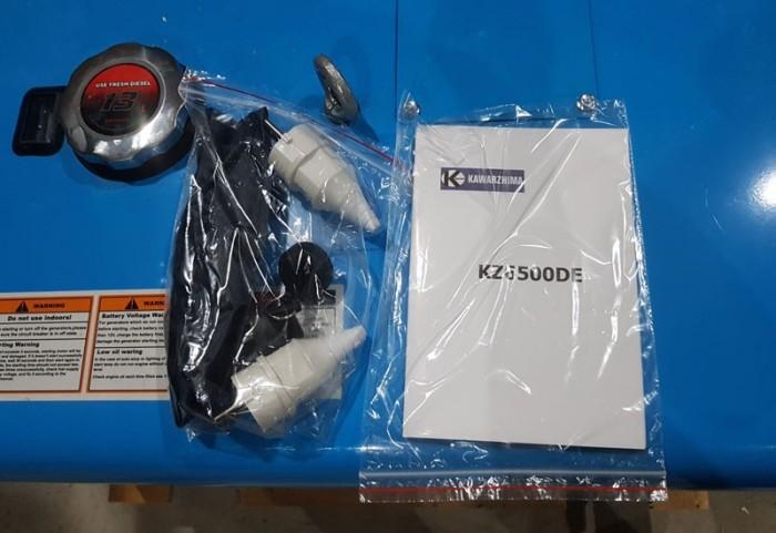 Nhà phân phối máy phát điện kawazhima KZ6500DE 5kw0