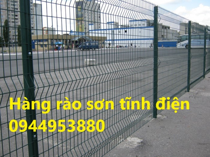 Lưới thép hàng rào mạ kẽm, hàng rào sơn tĩnh điện2
