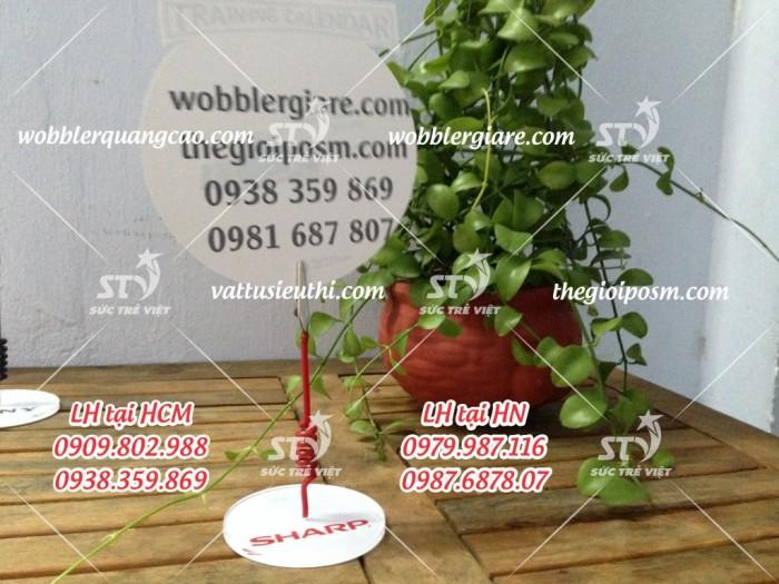 wobbler để bàn đế mica, wobbler quảng cáo đế mica, wobbler để bàn đế nhựa, wobbler quảng cáo14