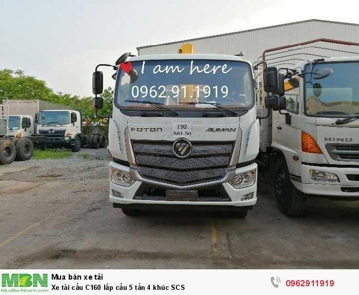 Xe tải cẩu C160 lắp cẩu 5 tấn 4 khúc SCS