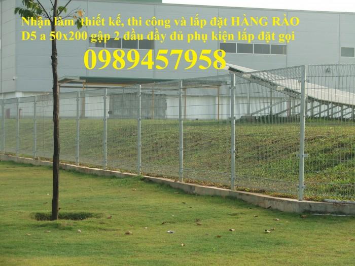 Sản xuất hàng rào công nghiệp, hàng rào phi 4, hàng rào nhà xưởng