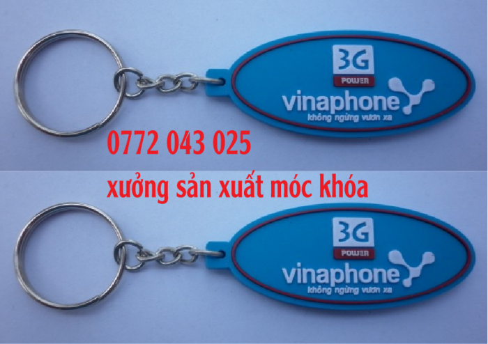 chuyên sản xuất móc khóa vnpt , móc khóa vinaphone với hơn 100 mẫu để khách lựa chọn