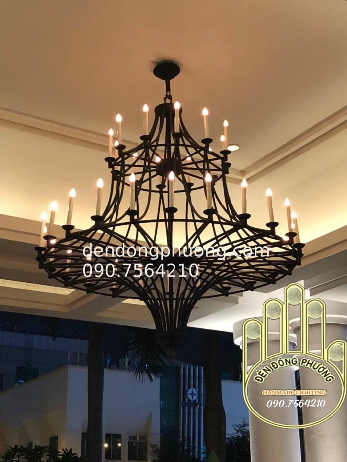 đèn chùm chùm sảnh đón khách sạn dành cho nhà hàng khách sạn