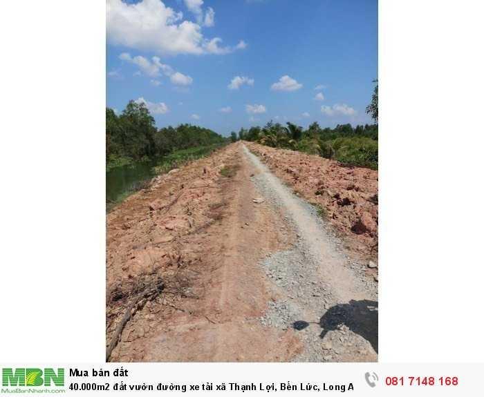 40.000m2 đất vườn đường xe tải xã Thạnh Lợi, Bến Lức, Long An