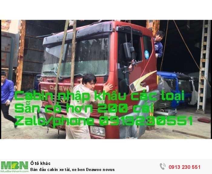 Bán đầu cabin xe tải, xe ben Deawoo novus
