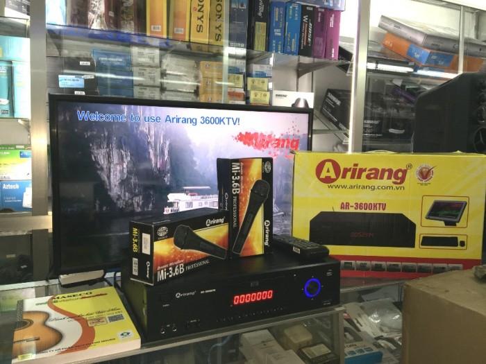 Đầu Arirang 3600KTV Khuyến mãi: 2 micro Arirang AR-3.6C giá không đổi