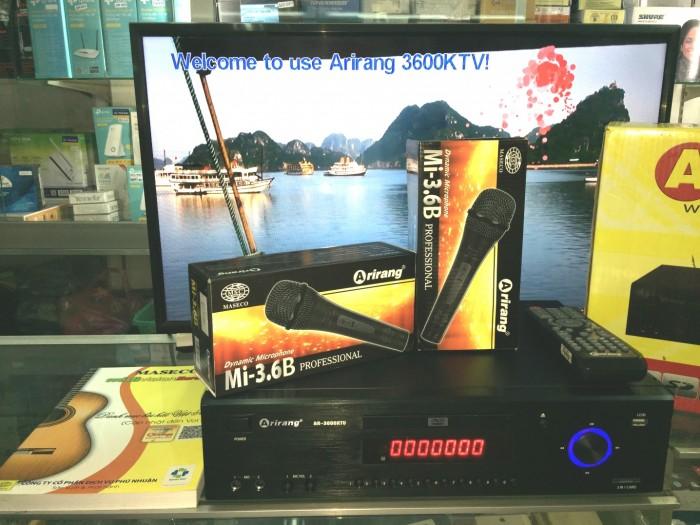 Đầu Arirang 3600KTV bán tại địa chỉ Điện máy Hải SỐ 41  LÊ VĂN NINH, P LINH TÂY, CHỢ THỦ ĐỨC giá chỉ có 18550K/ trọn bộ