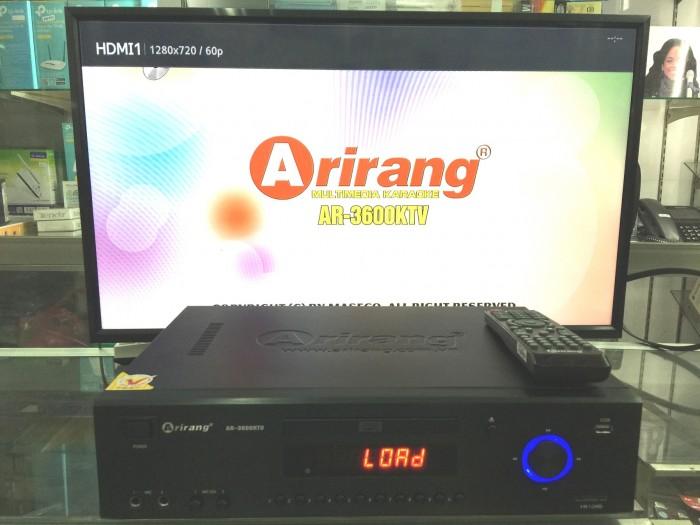 Đầu Arirang 3600KTV Sử dụng đĩa DVD Maseco Midi Vision KaraOke với các bài hát Việt Nam, có thể kết hợp với ổ cứng chơi thêm nhạc MTV