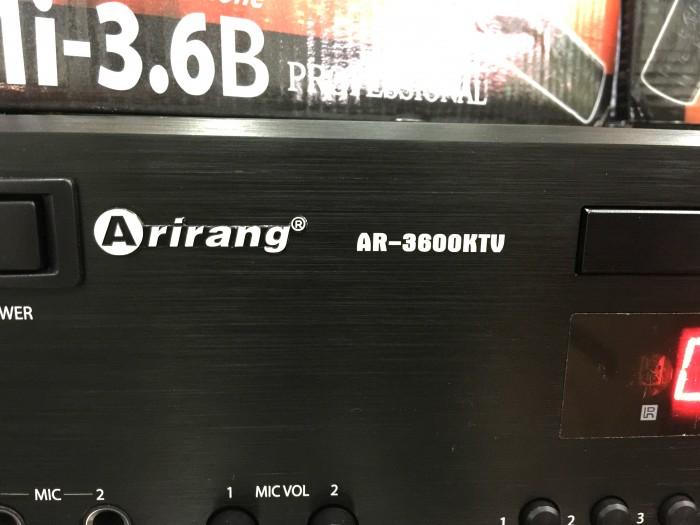 Đầu Arirang 3600KTV Kết hợp sử dụng ổ đĩa DVD và ổ cứng dung lượng lớn.