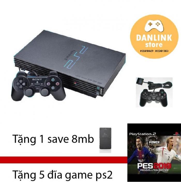 Máy game ps2 Fat tặng 5 đĩa game và save 8mb3