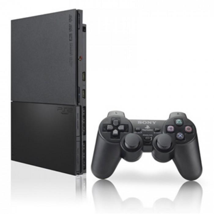 Máy game ps2 ổ cứng slim - HDD tặng 5 đĩa game và save (cho thuê)0