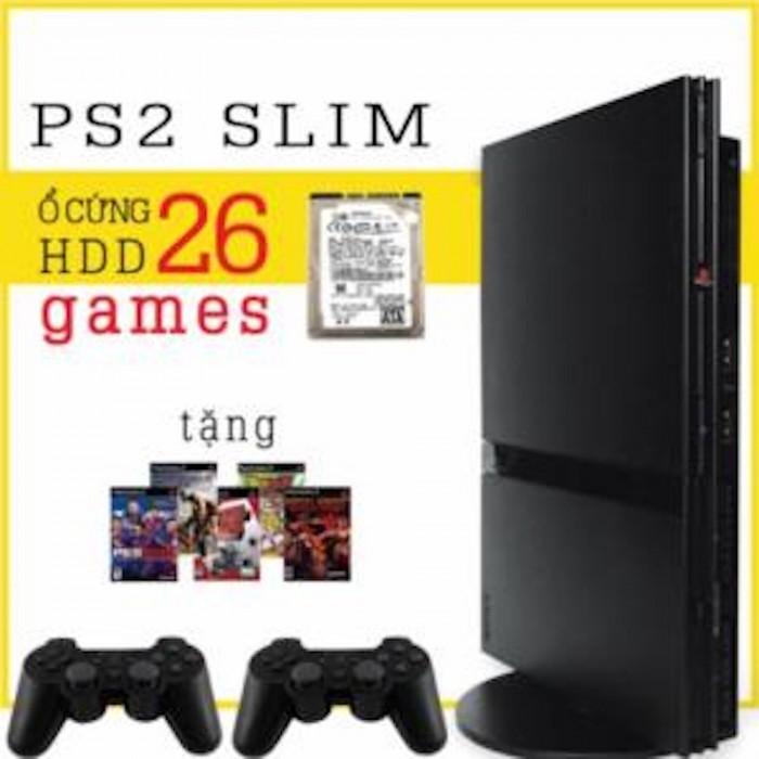 Máy game ps2 ổ cứng slim - HDD tặng 5 đĩa game và save (cho thuê)1