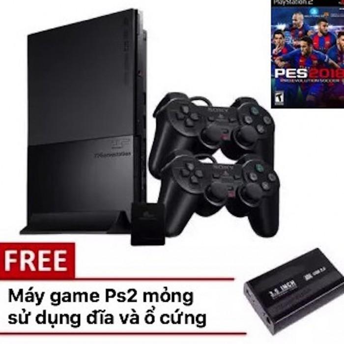 Máy game ps2 ổ cứng slim - HDD tặng 5 đĩa game và save (cho thuê)2
