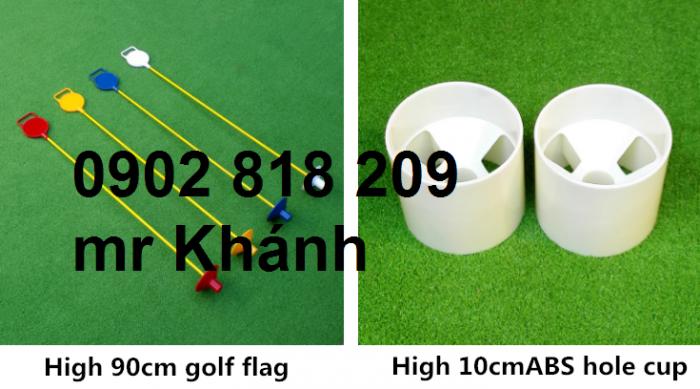 Bộ lỗ golf cột cờ nhựa 450k0