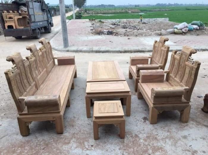 Bộ bàn ghế âu á kiểu cuốn thư tay hộp gỗ lim13