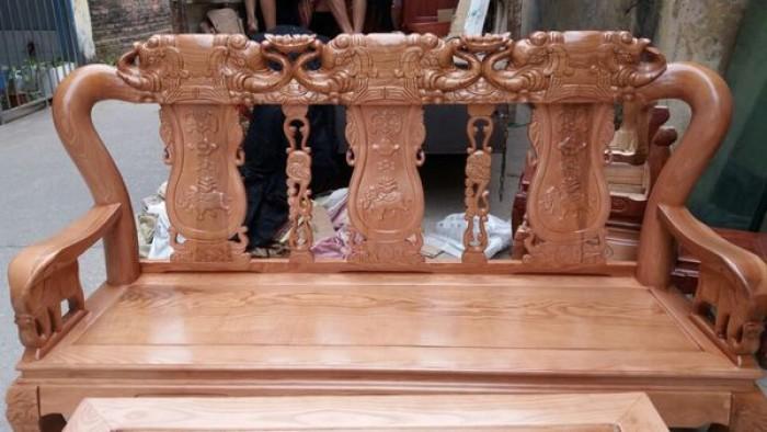 Bộ bàn ghế giả cổ minh quốc voi gỗ sồi nga0