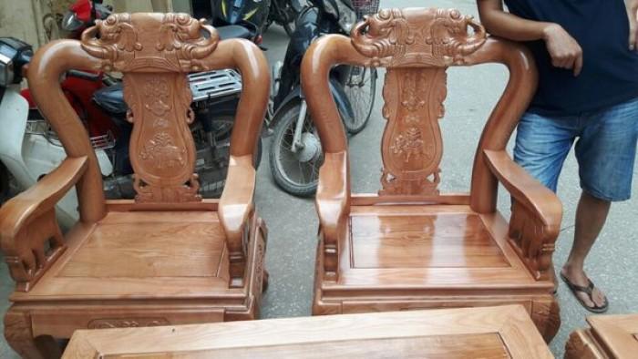 Bộ bàn ghế giả cổ minh quốc voi gỗ sồi nga3