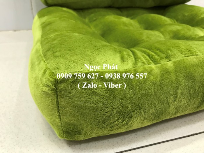 Nệm ngồi ghế gỗ, nệm lót ngồi, nệm ngồi bệt, đệm ngồi. Gối tựa lưng, nệm tựa lưng gối gòn. Size 45x45x8cm3