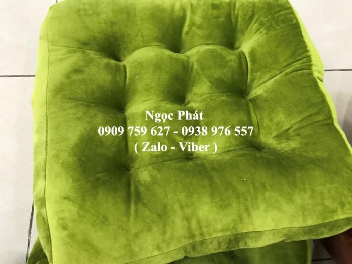 Nệm ngồi ghế gỗ, nệm lót ngồi, nệm ngồi bệt, đệm ngồi. Gối tựa lưng, nệm tựa lưng gối gòn. Size 45x45x8cm4