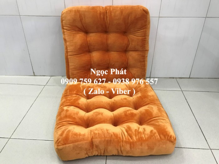 Nệm ngồi gòn 45x45x7cm, nệm ngồi bệt, gối tựa lưng, gối sofa. Đệm ngồi bệt .Đệm ngồi Size 45x45cm0