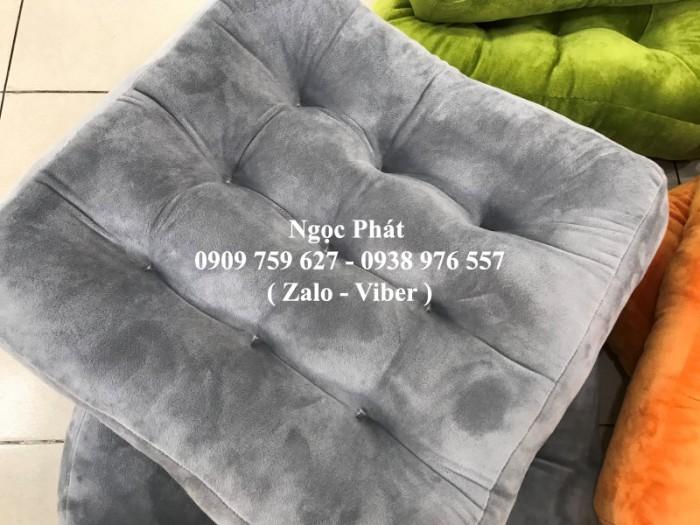 Nệm ngồi gòn 45x45x7cm, nệm ngồi bệt, gối tựa lưng, gối sofa. Đệm ngồi bệt .Đệm ngồi Size 45x45cm1