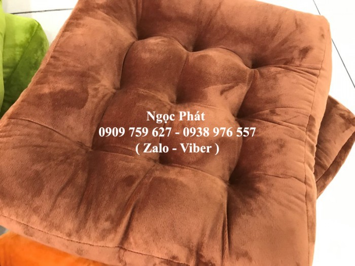 Nệm ngồi gòn 45x45x7cm, nệm ngồi bệt, gối tựa lưng, gối sofa. Đệm ngồi bệt .Đệm ngồi Size 45x45cm4