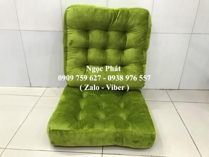 Đệm lót ngồi ghế gỗ 45x45cm. Nệm ngồi bệt, nệm tựa lưng. Size 45x45cm. Nệm ngồi - Gối tựa lưng Ngọc Phát.5