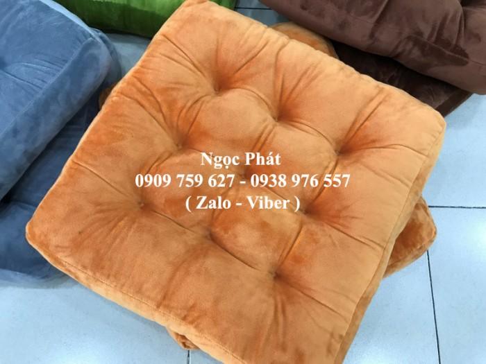 Đệm lót ngồi ghế gỗ 45x45cm. Nệm ngồi bệt, nệm tựa lưng. Size 45x45cm. Nệm ngồi - Gối tựa lưng Ngọc Phát.1