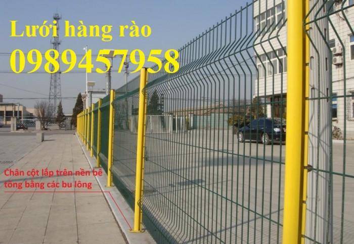 Hàng rào thép sơn tĩnh điện với màu sắc theo yêu cầu1