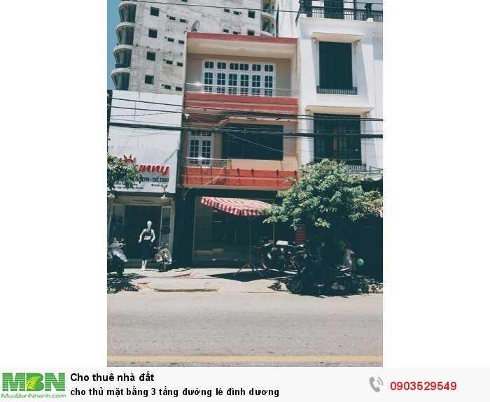 Cho thuê mặt bằng 3 tầng đường Lê Đình Dương