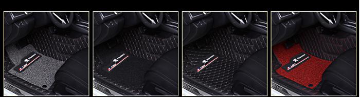 Thảm sàn da 6D cho Peugeot 5008 vs 3008 | Có Logo  | Peugeot Luxury
